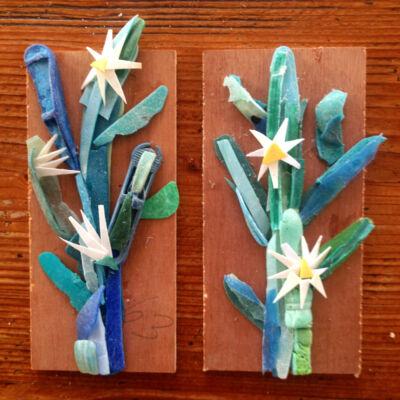 Plastic kunst Cactus